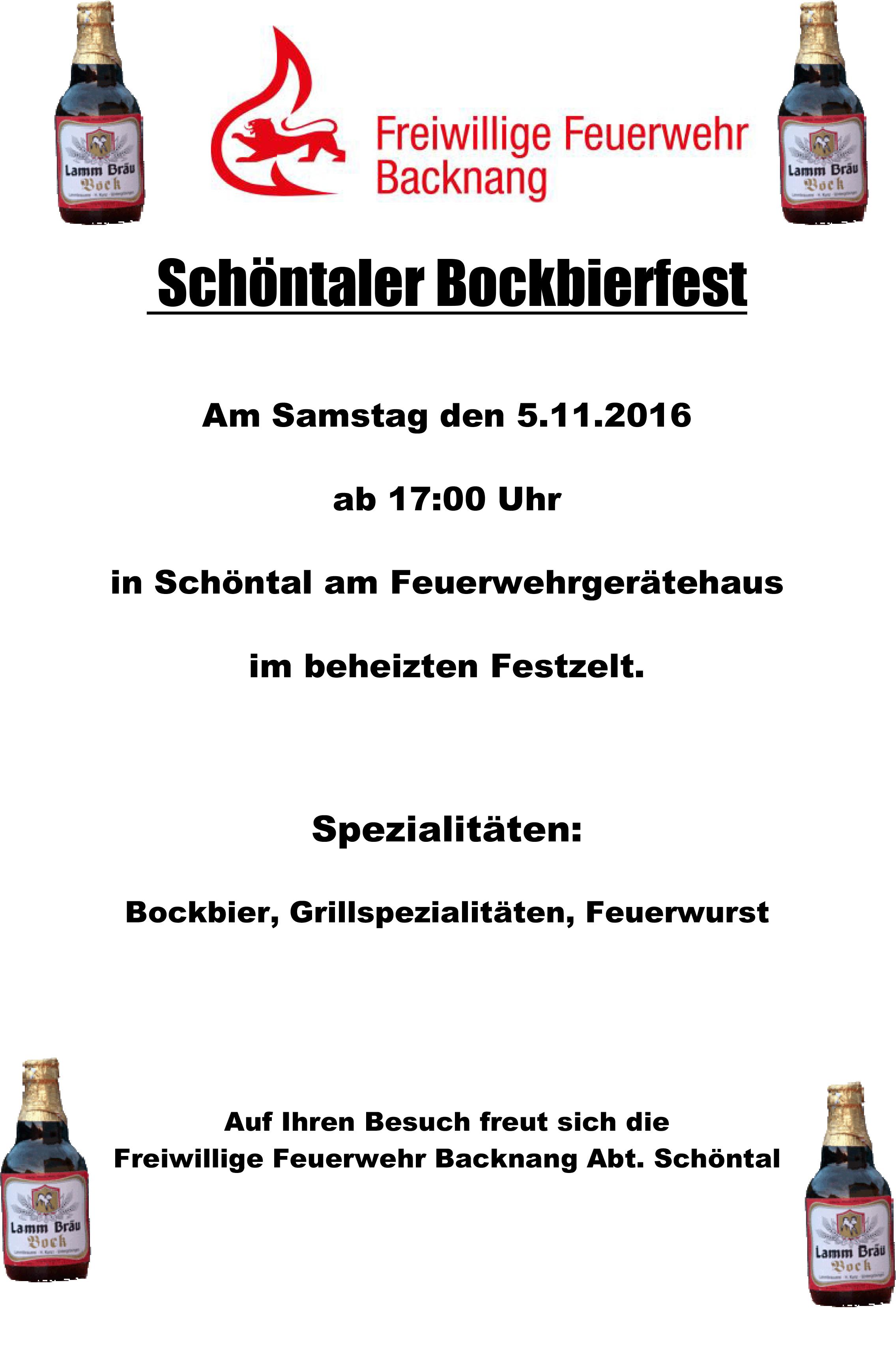 Bockbierfest  5.11.16